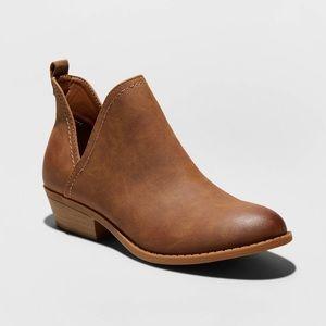 WATERPROOFED brown pleather booties!